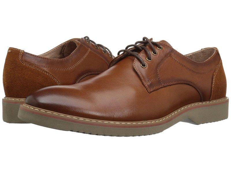 フローシャイム メンズ オックスフォード シューズ Union Plain Toe Oxford Saddle Tan Leather/Suede
