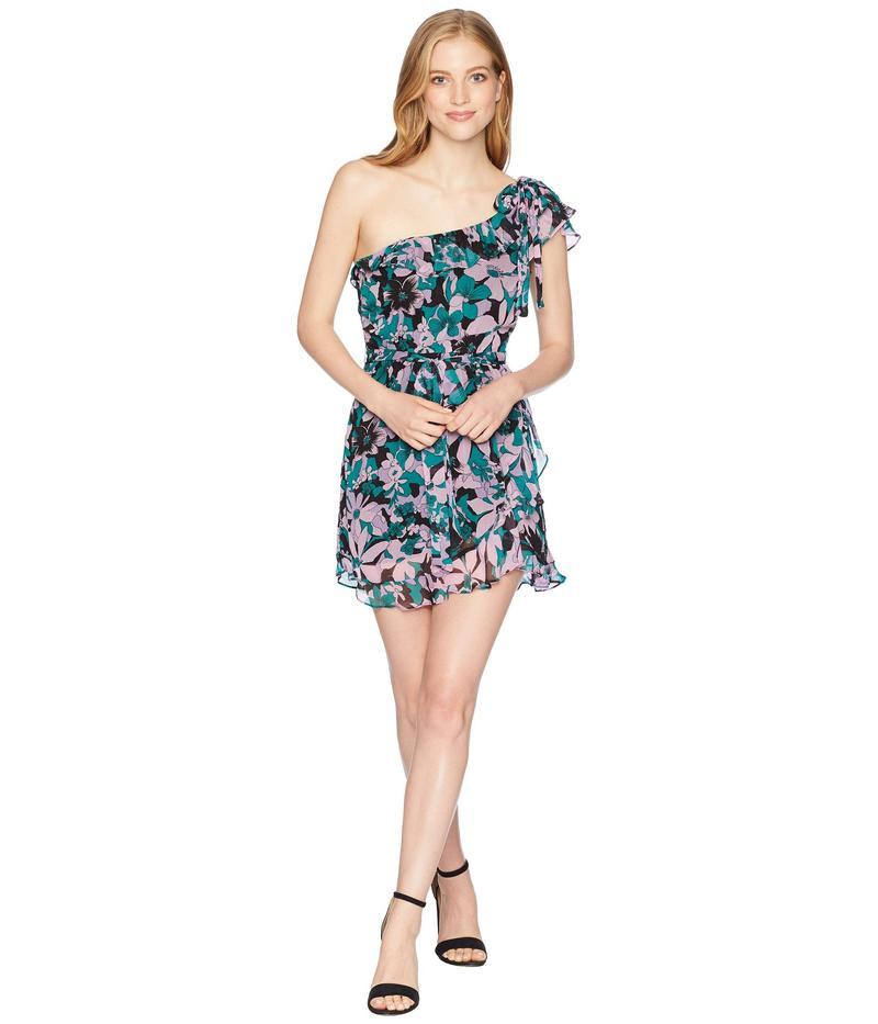 フォーラブアンドレモン レディース ワンピース トップス Maritza Floral One Shoulder Dress Lilac Floral