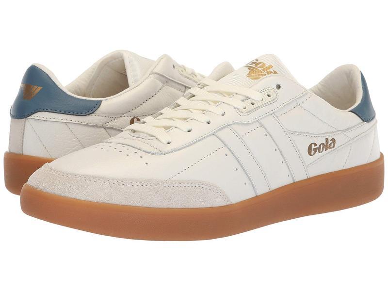 ゴラ メンズ スニーカー シューズ Inca Leather Off-White/Baltic/Gum