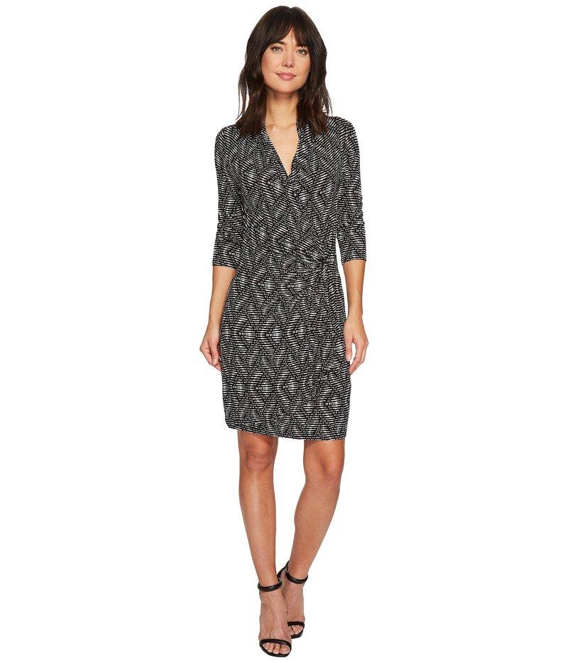 カレンケーン レディース ワンピース トップス 3/4 Sleeve Cascade Wrap Dress Print