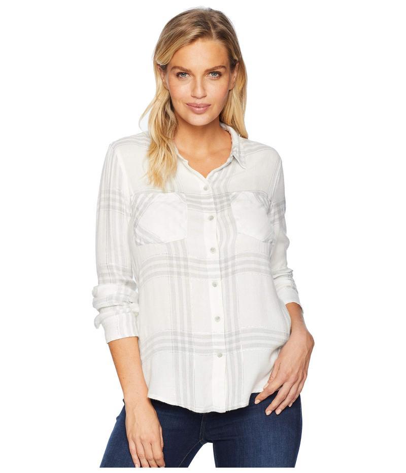 ラッキーブランド レディース シャツ トップス Button Side Plaid Shirt White Multi