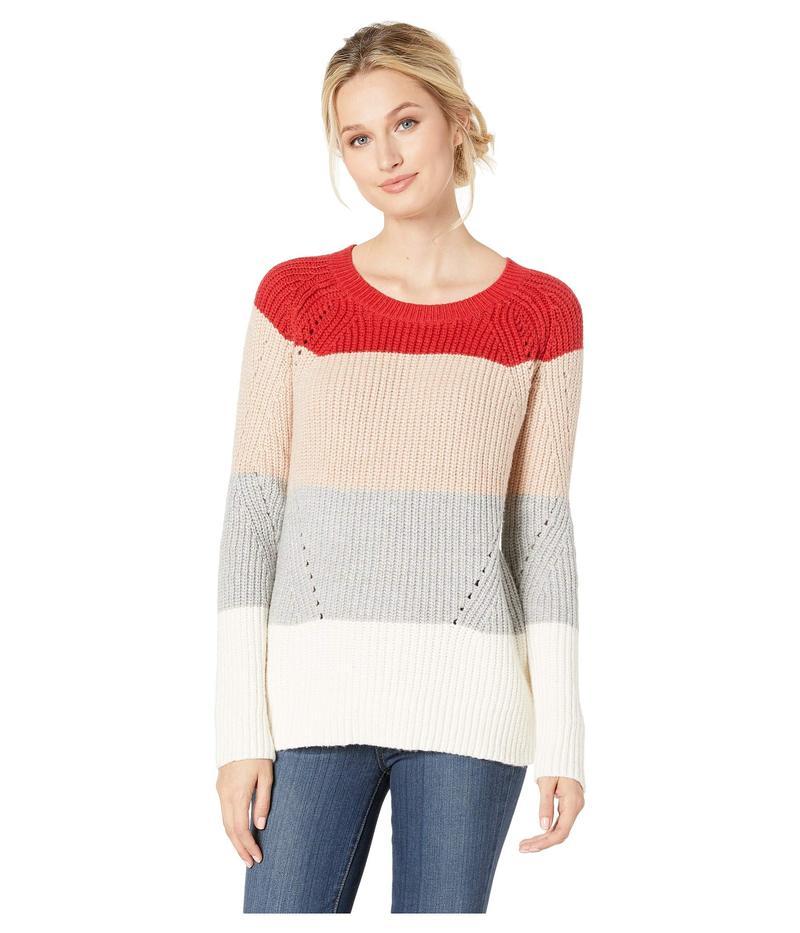 ラッキーブランド レディース ニット・セーター アウター Crew Neck Pointelle Sweater Multi