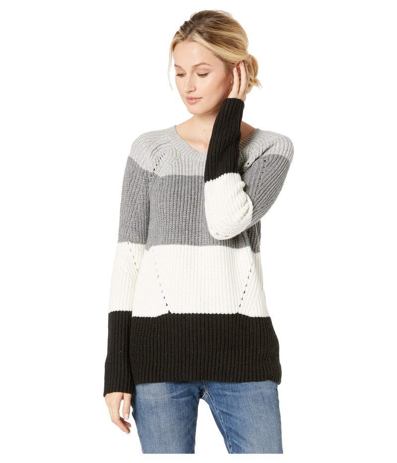 ラッキーブランド レディース ニット・セーター アウター Crew Neck Pointelle Sweater Natural Multi