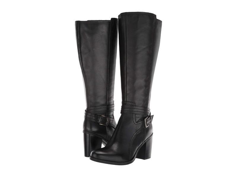 ナチュライザー レディース ブーツ・レインブーツ シューズ Kelsey Wide Calf Black Leather