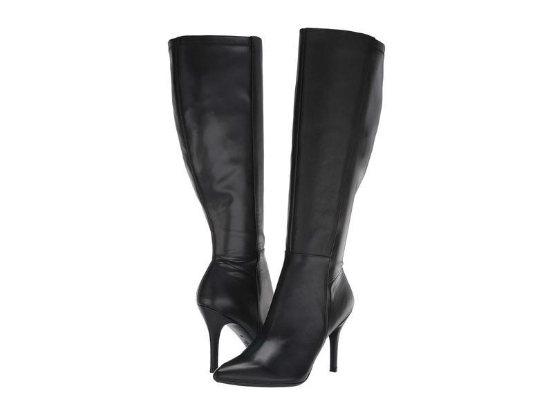 ナインウェスト レディース ブーツ・レインブーツ シューズ Fallon Tall Dress EXTRA WIDE Boot Black Leather