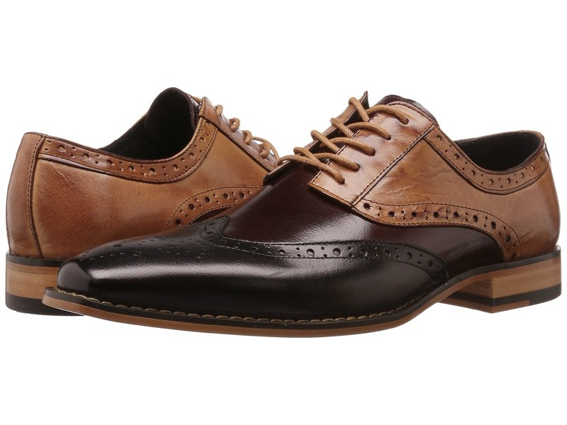 ステイシーアダムス メンズ オックスフォード シューズ Tinsley Wingtip Oxford Black/Burgundy/Tan