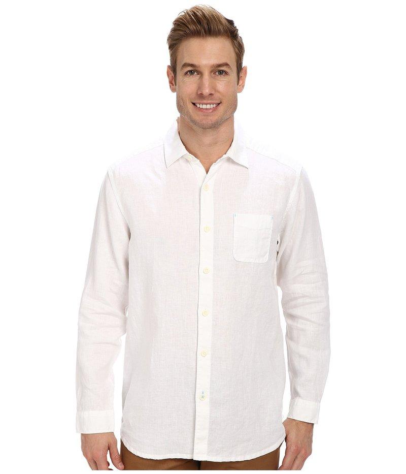 トッミーバハマ メンズ シャツ トップス Sea Glass Breezer Long Sleeve Shirt White