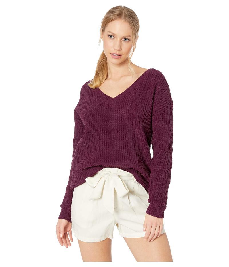 ビービーダコタ レディース ニット・セーター アウター Cool Runnings V-Neck Sweater Boysenberry