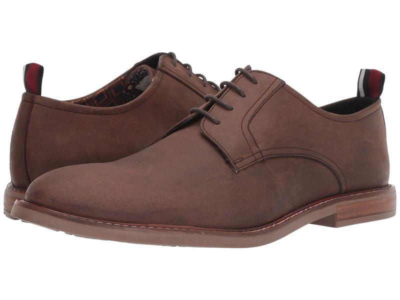 ベンシャーマン メンズ オックスフォード シューズ Brent Plain Toe Brown Leather