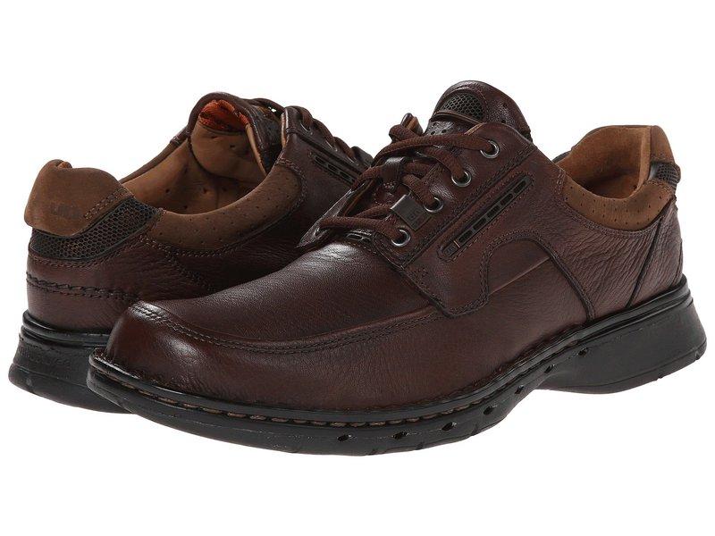 クラークス メンズ オックスフォード シューズ Un.bend Brown Leather