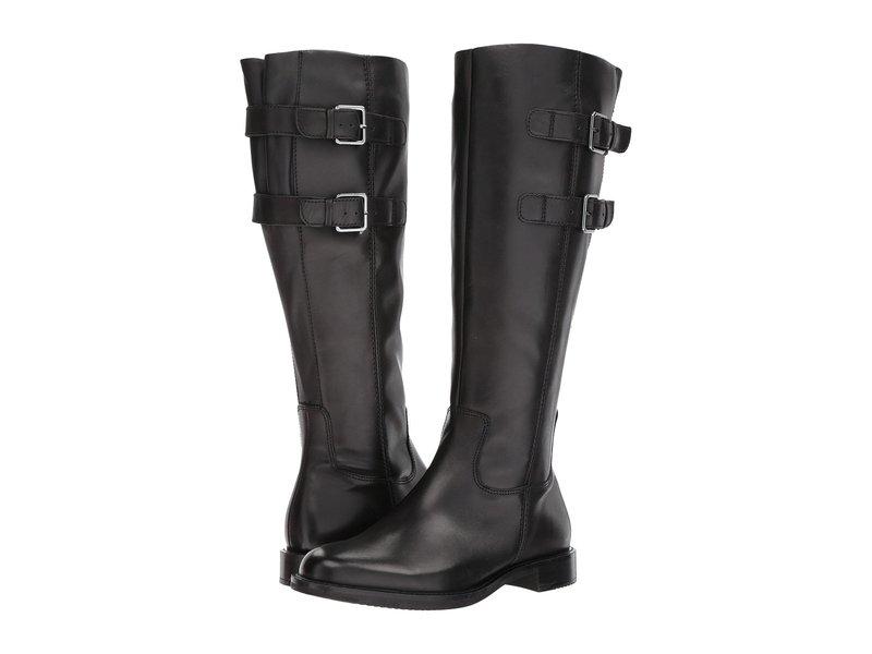 エコー レディース ブーツ・レインブーツ シューズ Shape 25 Tall Buckle Black Cow Leather