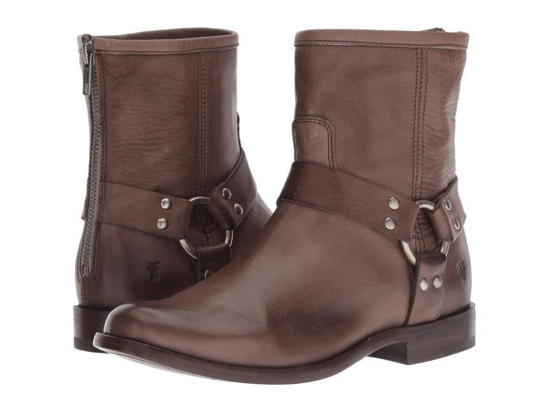 フライ レディース ブーツ・レインブーツ シューズ Phillip Harness Short Grey Soft Vintage Leather