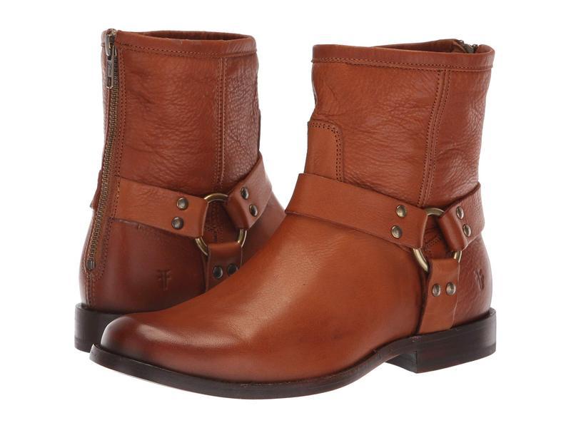 フライ レディース ブーツ・レインブーツ シューズ Phillip Harness Short Whiskey Soft Vintage Leather