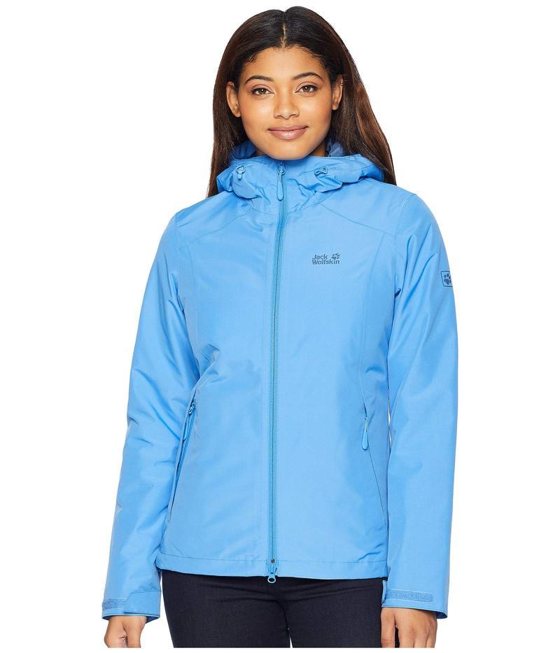 ジャックウルフスキン レディース コート アウター Chilly Morning Waterproof Jacket Zircon Blue