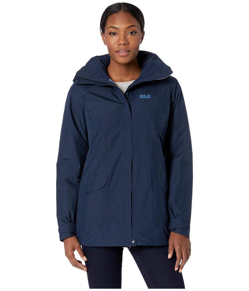ジャックウルフスキン レディース コート アウター Kiruna Trail Insulated Jacket Midnight Blue