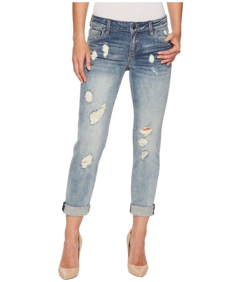カットフロムザクロス レディース デニムパンツ ボトムス Catherine Boyfriend Wide Cuff Jeans in Characterized Characterized/Light Base Wash