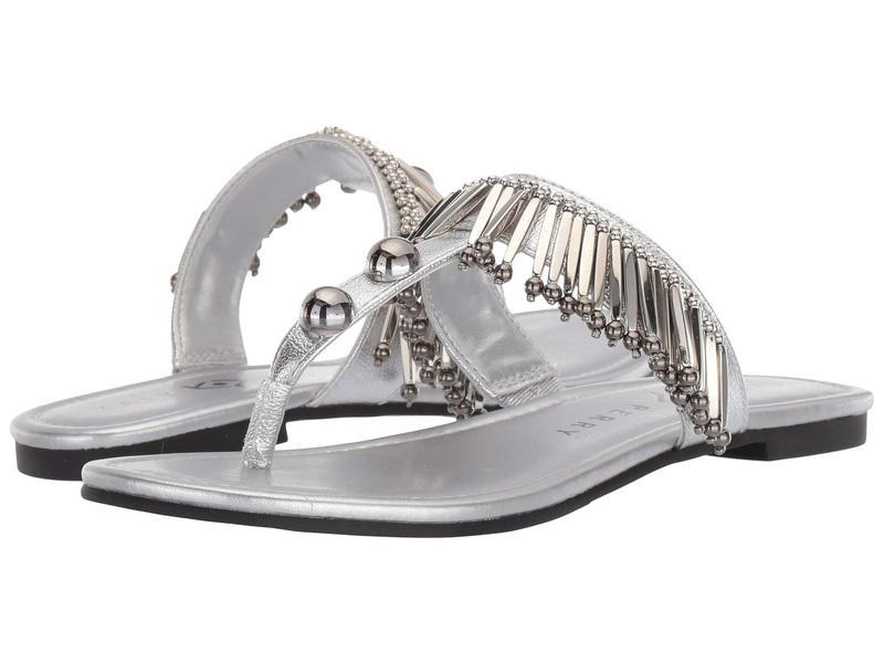 ケイティ ペリー レディース サンダル シューズ The Brenna Silver Metallic Leather