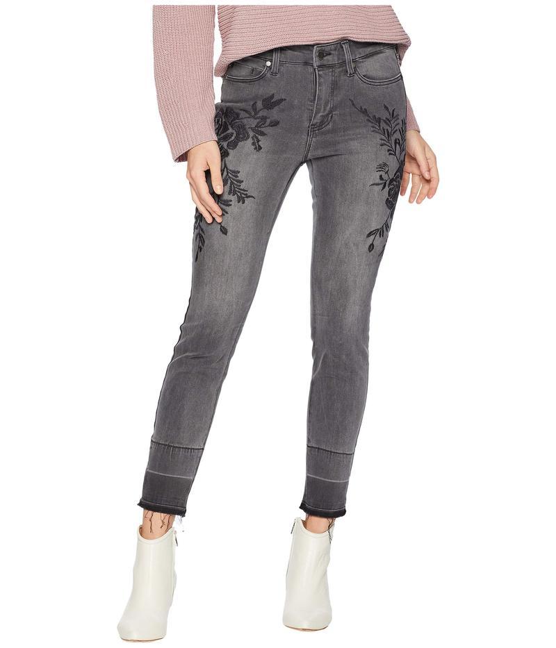 リバプール レディース デニムパンツ ボトムス Sadie Ankle Released Hem Embroidered in Soft Stretch Denim in Titanium Wash Titanium Wash
