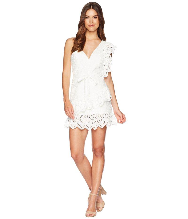 バードット レディース ワンピース トップス Frill Shoulder Dress White