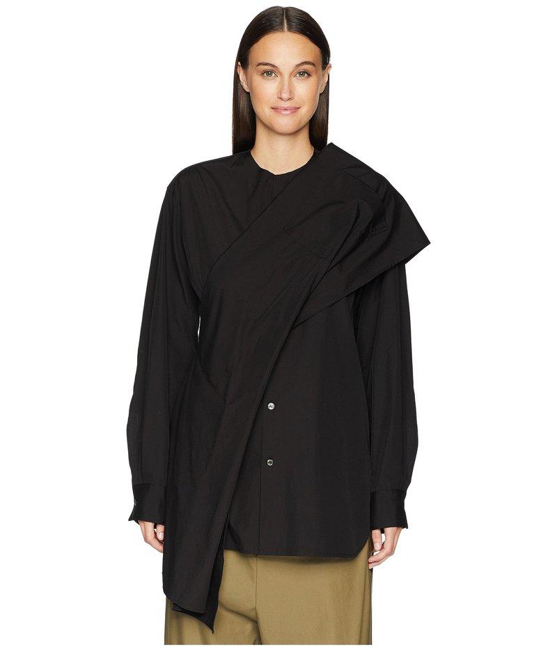 ワイズバイヨウジヤマモト レディース シャツ トップス Z-Shoulder Woven Drape Blouse Black
