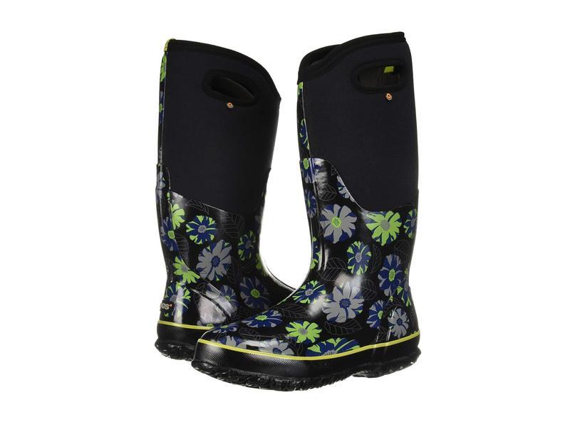 ボグス レディース ブーツ・レインブーツ シューズ Classic Tall Winter Floral Black Multi