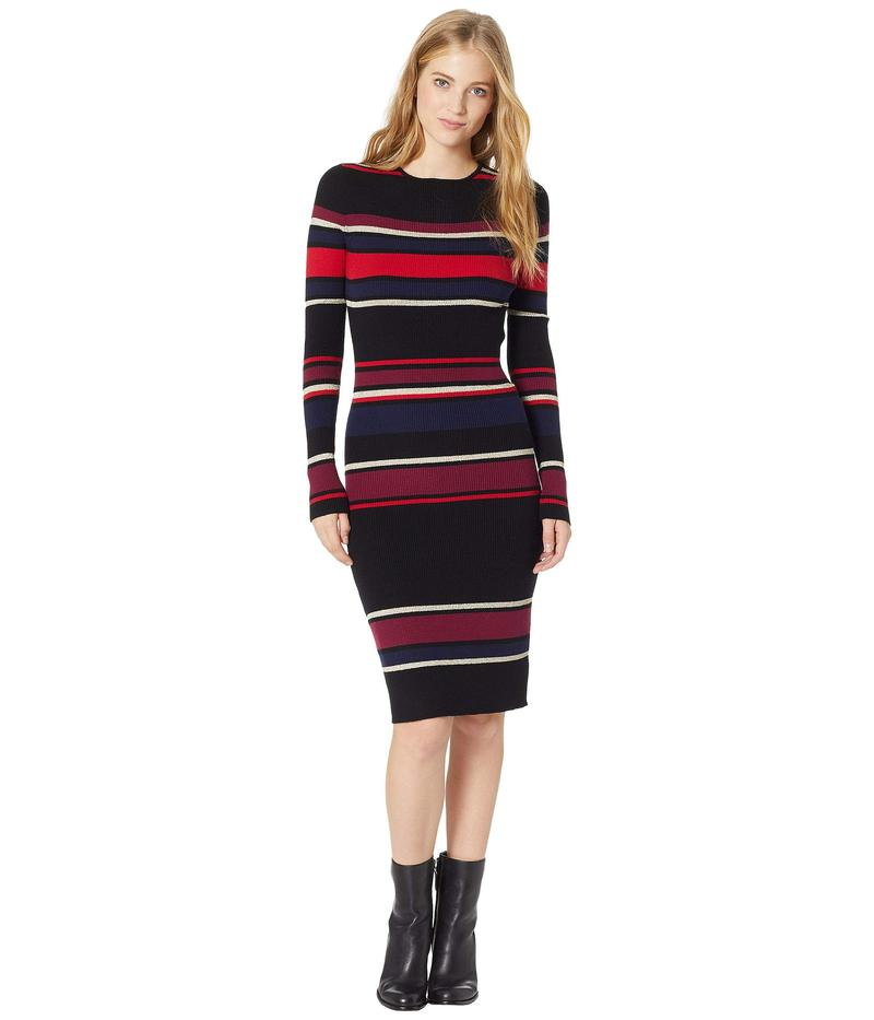 カップケーキアンドカシミア レディース ワンピース トップス Jaslene Bodycon Striped Sweater Dress Black