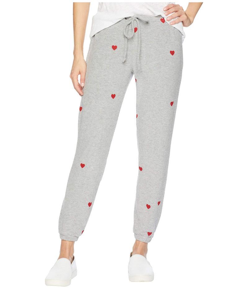 チェイサー レディース カジュアルパンツ ボトムス Love Knit Drawstring Slouchy Pants Heather Grey
