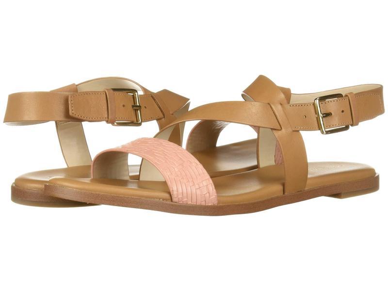 コールハーン レディース サンダル シューズ Findra Strappy Sandal Pecan Leather/Coral Almond