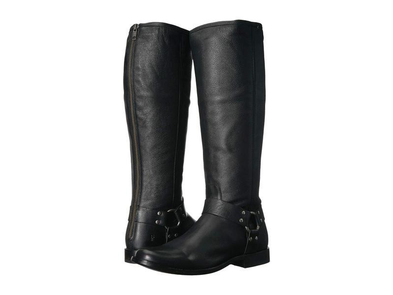 フライ レディース ブーツ・レインブーツ シューズ Phillip Harness Tall Black Soft Vintage Leather