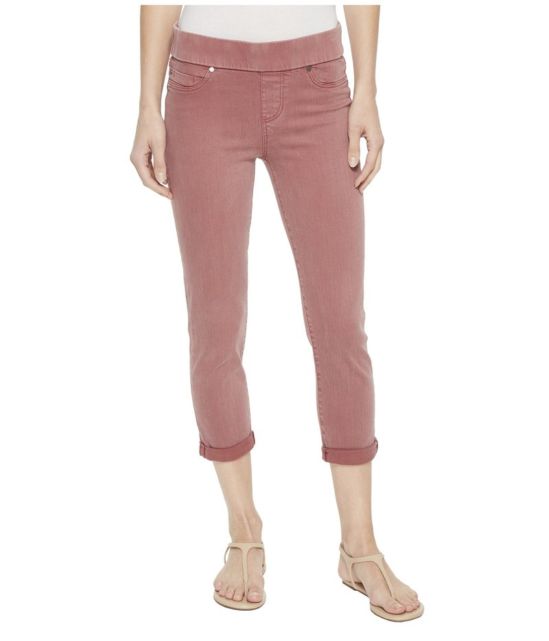 リバプール レディース デニムパンツ ボトムス Sienna Pull-On Rolled Capris in Slub Stretch Twill Roan Rouge Roan Rouge