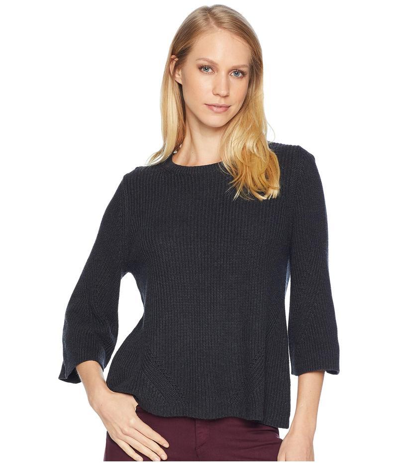 マイケルスターズ レディース ニット・セーター アウター Cotton Knits 3/4 Sleeve Swing Sweater Charcoal