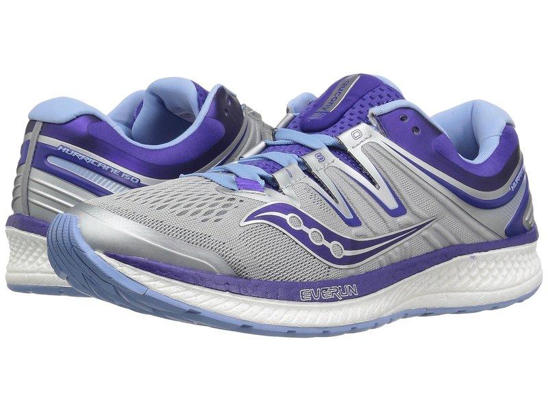 サッカニー レディース スニーカー シューズ Hurricane ISO 4 Grey/Blue/Purple