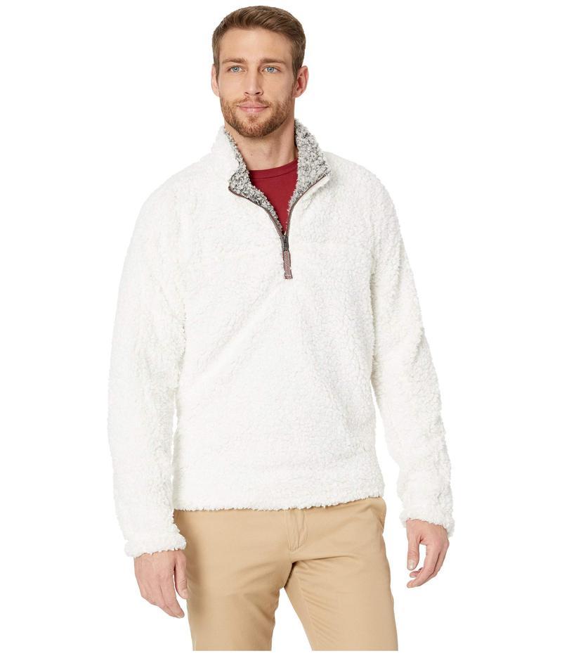 トゥルーグリット メンズ ニット・セーター アウター Frosty Tipped Pile 1/4 Zip Pullover Ivory
