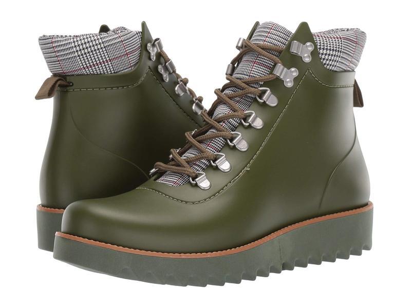 ベルナルド レディース ブーツ・レインブーツ シューズ Winnie Hiker Rain Boot Military Rubber/Plaid