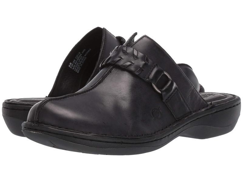 ボーン レディース サンダル シューズ Talquin Black Full Grain Leather