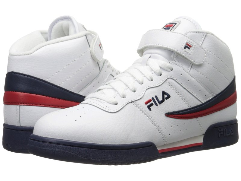 フィラ メンズ スニーカー シューズ F-13V Leather/Synthetic White/Fila Navy/Fila Red