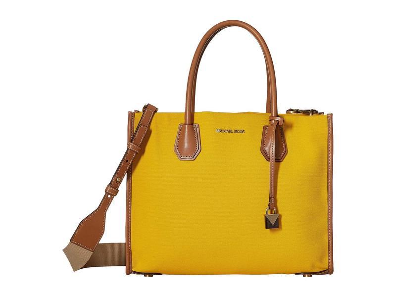 マイケルコース レディース ハンドバッグ バッグ Mercer Large Convertible Tote Jasmine Yellow