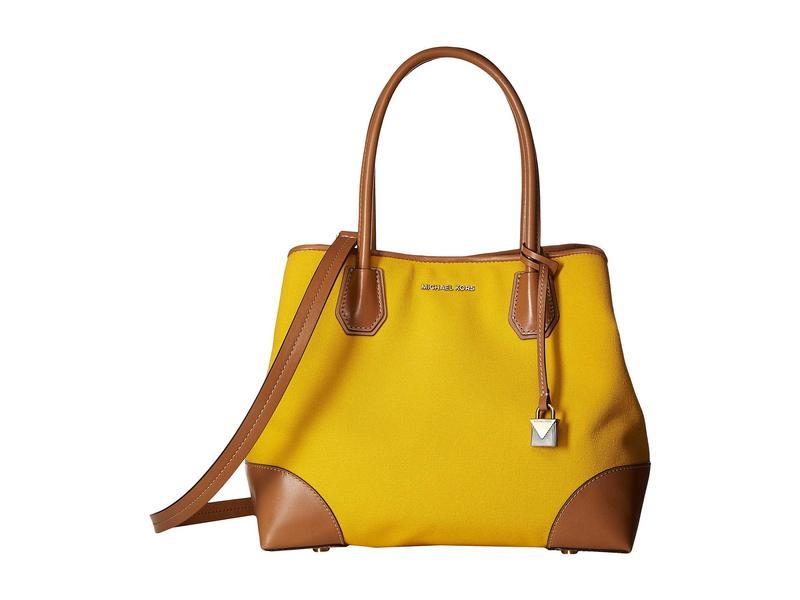 マイケルコース レディース ハンドバッグ バッグ Mercer Gallery Medium Center Zip Tote Jasmine Yellow