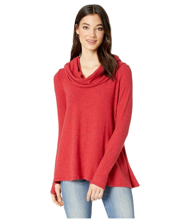 マイケルスターズ レディース シャツ トップス Madison Brushed Long Sleeve Convertible Top with Thumbholes Heart