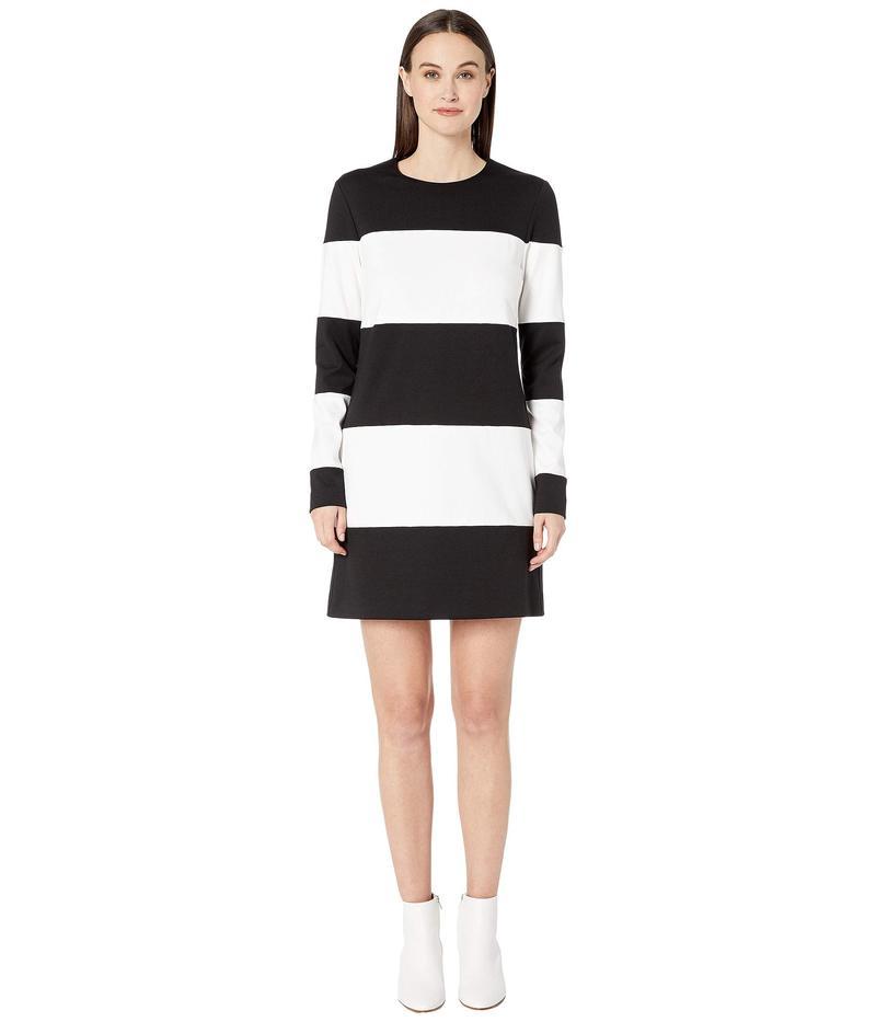 ニコルミラー レディース ワンピース トップス Ponte Striped Dress Black/White