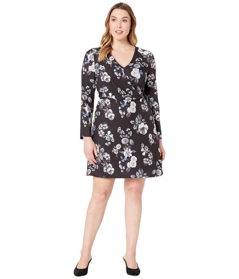 アドリアナ パペル レディース ワンピース トップス Etch Flora A-Line Dress Black Multi
