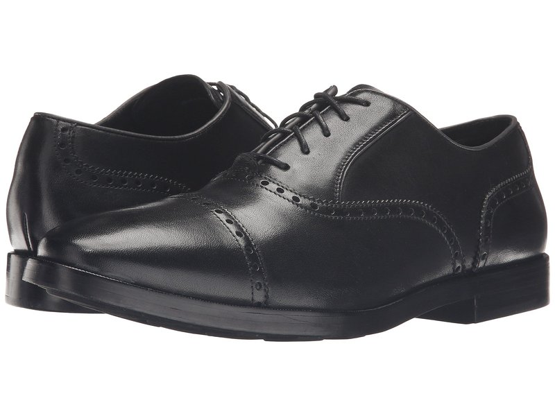 コールハーン メンズ オックスフォード シューズ Hamilton Grand Cap Oxford Black