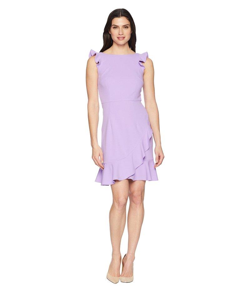 ドナモーガン レディース ワンピース トップス Crepe Dress with Ruffle Skirt Lavender
