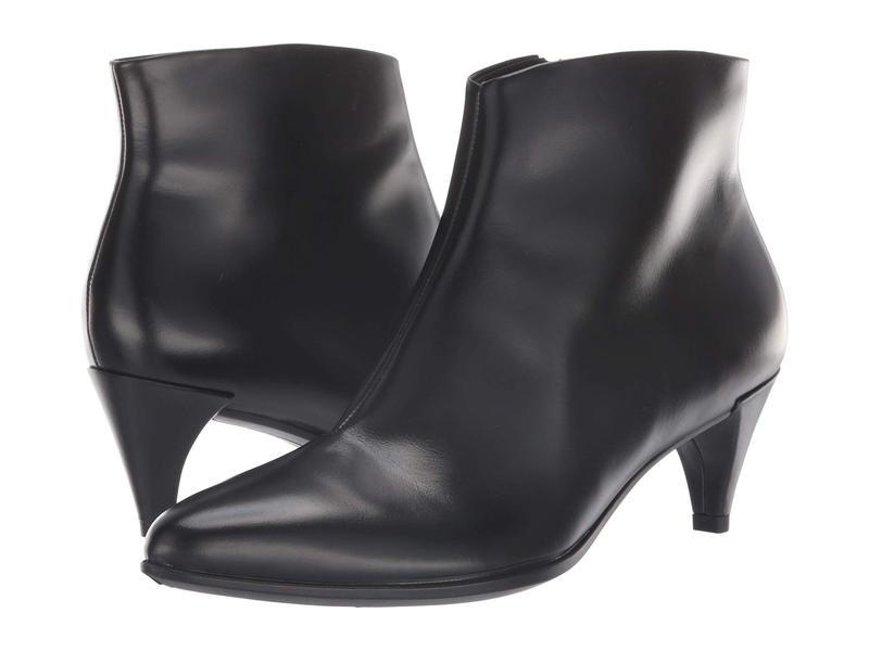 エコー レディース ブーツ・レインブーツ シューズ Shape 45 Kitten Heel Boot Black Calf Leather