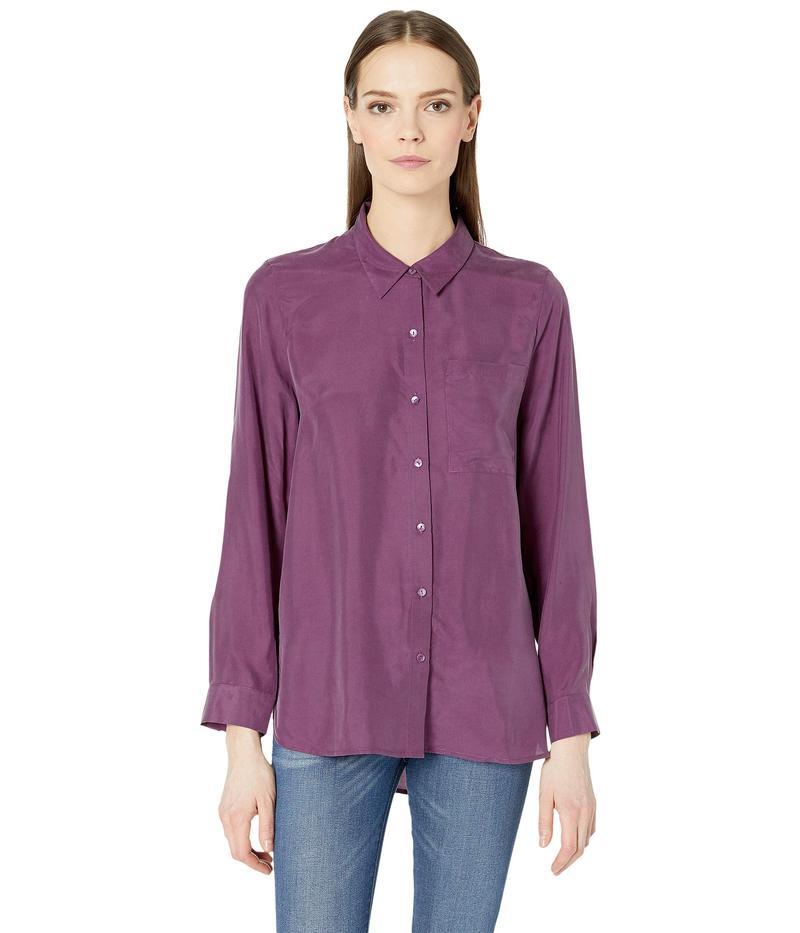 エイリーンフィッシャー レディース シャツ トップス Classic Collar Shirt Currant