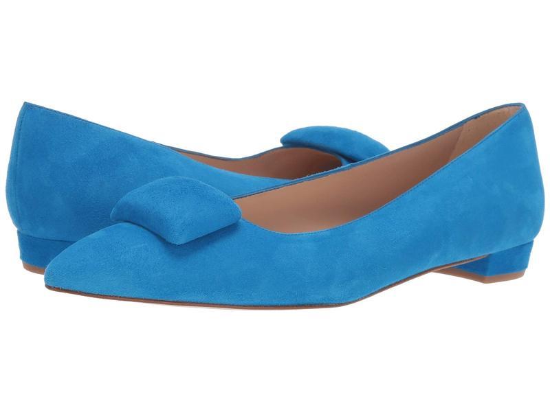 エルケーベネット レディース サンダル シューズ Jacqui Almond Toe Flat with Pebble Mediterranean Blue
