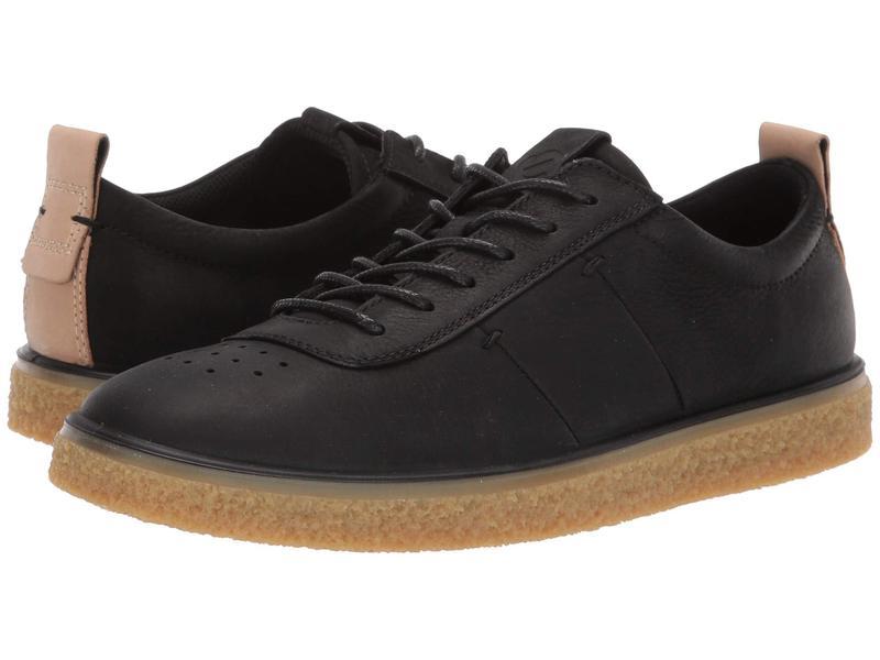 エコー レディース スニーカー シューズ Crepetray Lace-Up Black Nubuck Leather