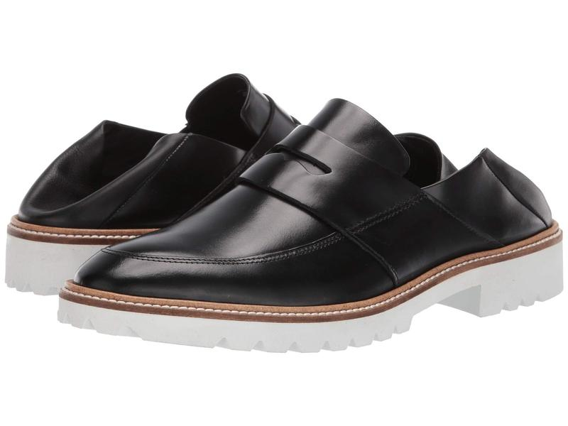 エコー レディース スリッポン・ローファー シューズ Incise Tailored Loafer Black/Black Cow Leather/Cow Leather