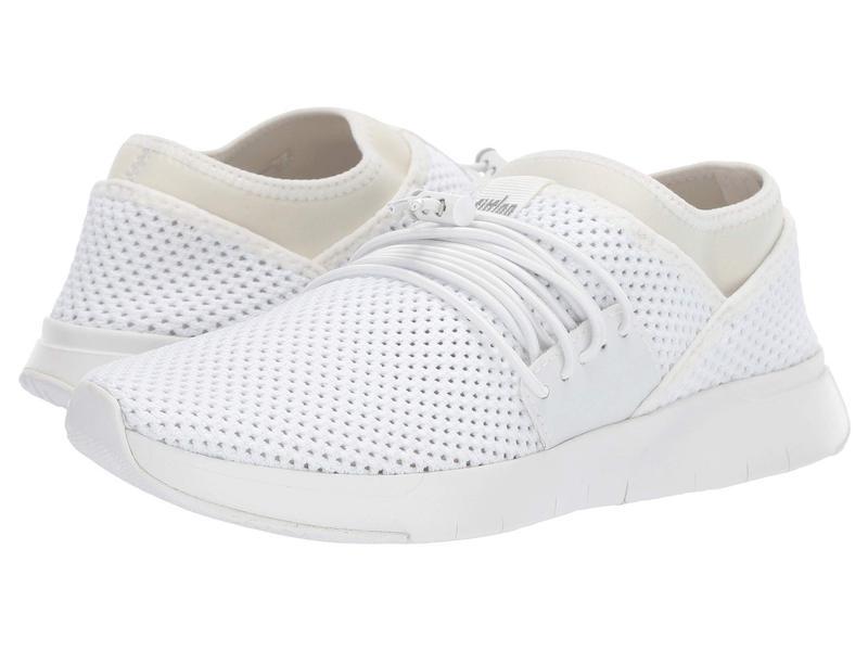 フィットフロップ レディース スニーカー シューズ Air Mesh Lace-Up Urban White/White