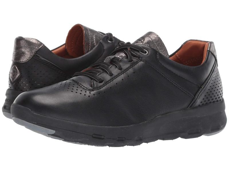 ロックポート レディース スニーカー シューズ Let's Walk Ubal Black/Black Leather
